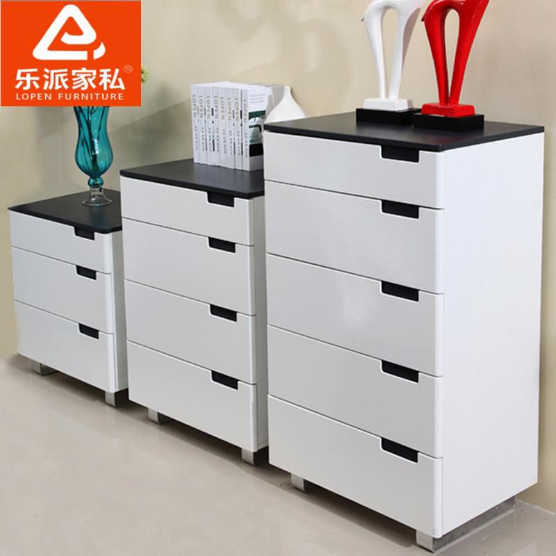 樂派家私 人造板密度板/纖維板框架結構儲藏藝術成人簡約現代 6x-02斗柜