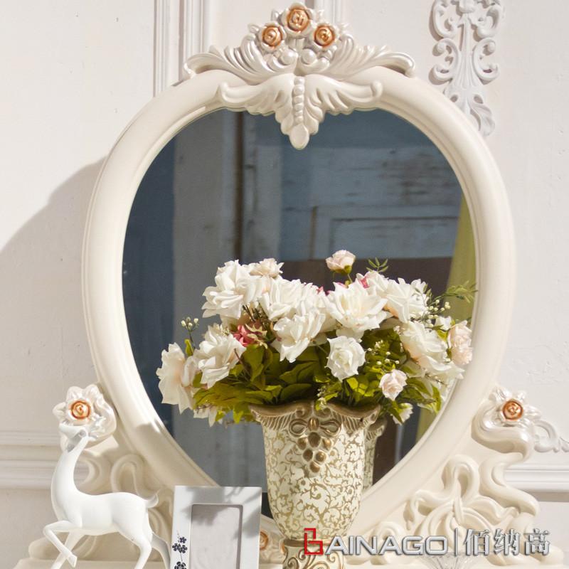 佰纳高喷漆曲木结构橡胶木储藏植物花卉成人欧式梳妆台