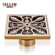 铜质铜色洗衣机ws-8780地漏方形防臭式 地漏