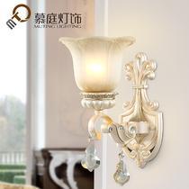 玻璃树脂欧式镂空雕花白炽灯节能灯LED 壁灯