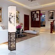 PVC木现代中式镂空雕花节能灯LED 落地灯