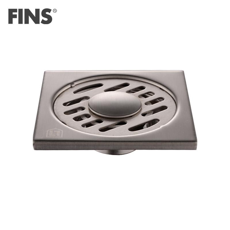弗林斯不锈钢洗衣机-地漏方形防臭式地漏