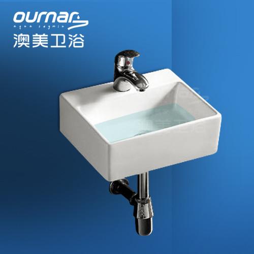澳美筑家陶瓷单孔洗手盆