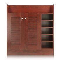 福州刨花板/三聚氰胺板框架结构储藏对开门艺术简约现代 鞋柜