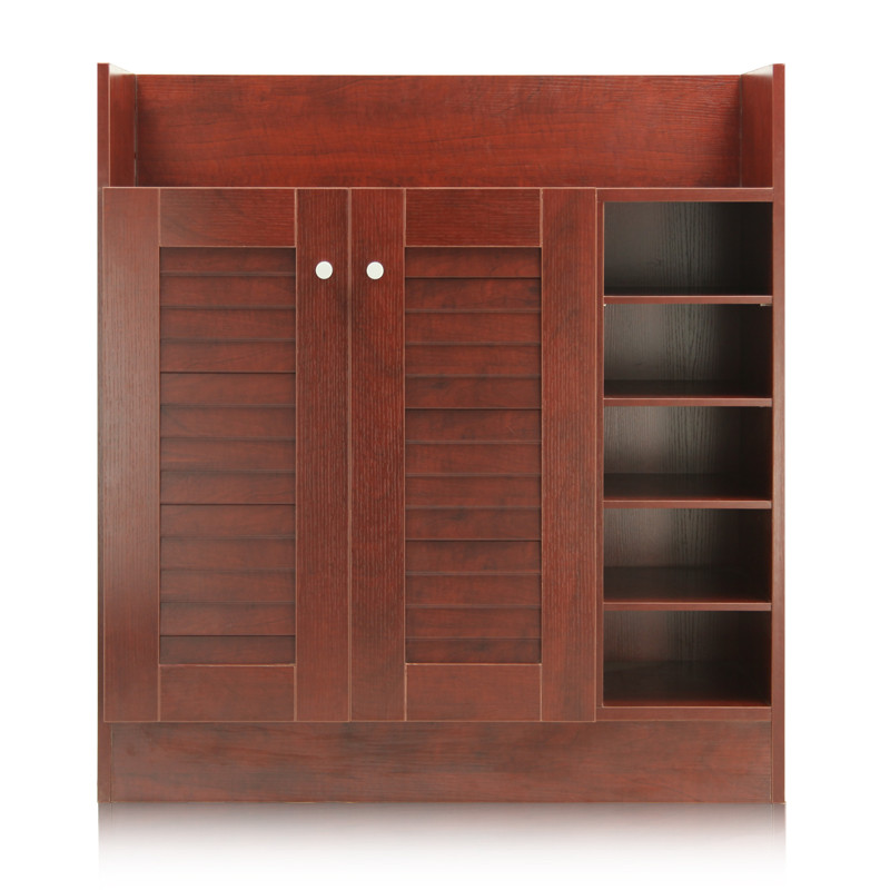 百乘 Bai Cheng 福州刨花板/三聚氰胺板框架結構儲藏對開門藝術簡約現代 鞋柜