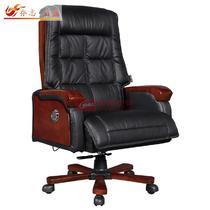 黑色系高弹性记忆海绵大班椅皮衣上海真皮现代简约 QZ-BS-36椅子
