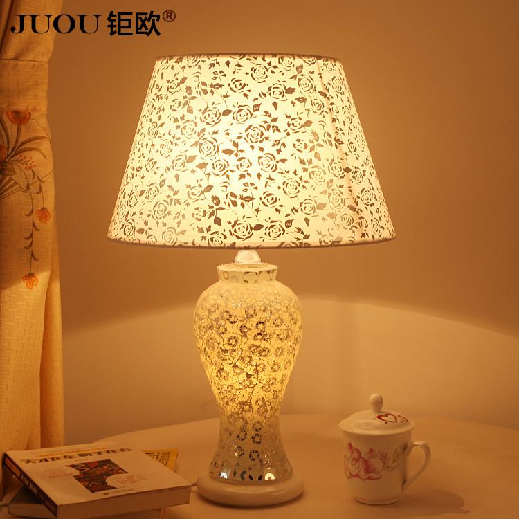 钜欧时光之美特价玻璃田园手工编织白炽灯节能灯台灯