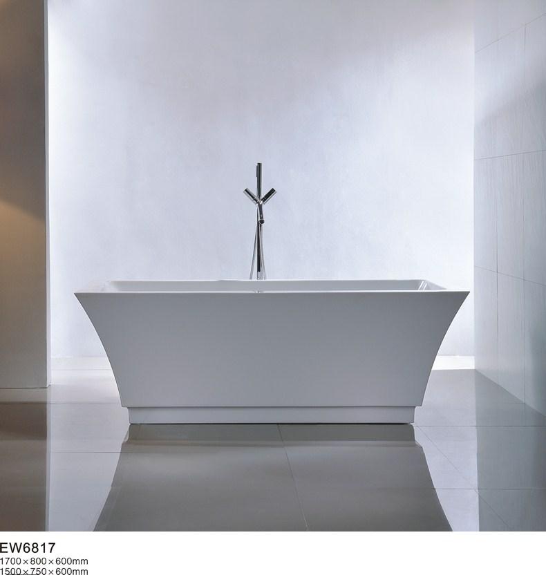 艾维嘉白色有机玻璃独立式浴缸