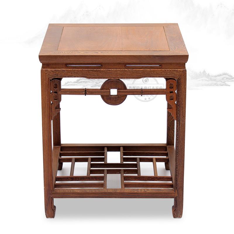 青龙韵无木质工艺雕刻鸡翅木明清古典茶几