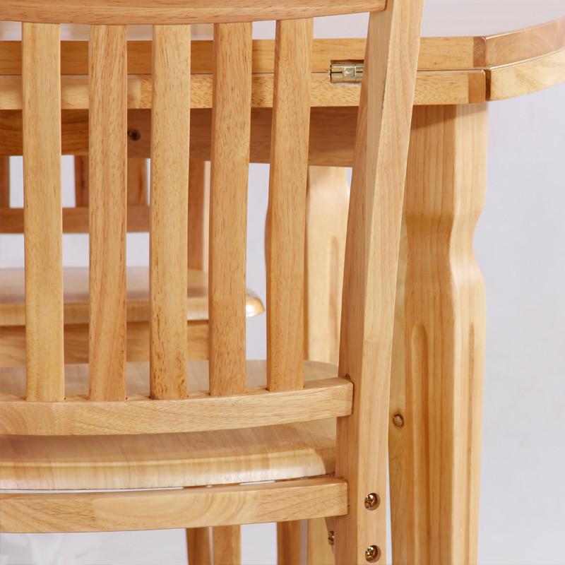 木凡家居 组装框架结构橡胶木艺术圆形简约现代 餐桌