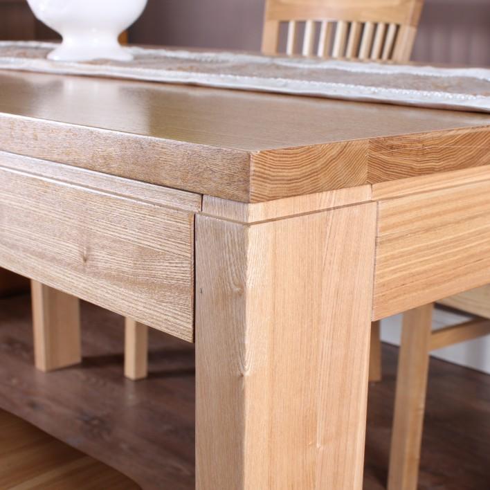 树和家居水曲柳长方形简约现代餐桌