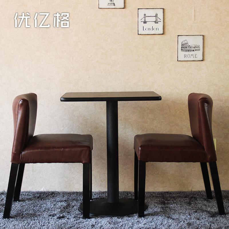 优亿格金属组装铁支架结构移动正方形简约现代餐桌
