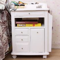 箱框结构泡桐木成人简约现代 床头柜