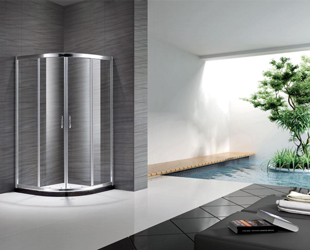 朗斯 移門式弧扇型 海倫B42淋浴房
