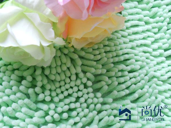 尚优雪尼尔日式纯色长方形田园机器织造地毯