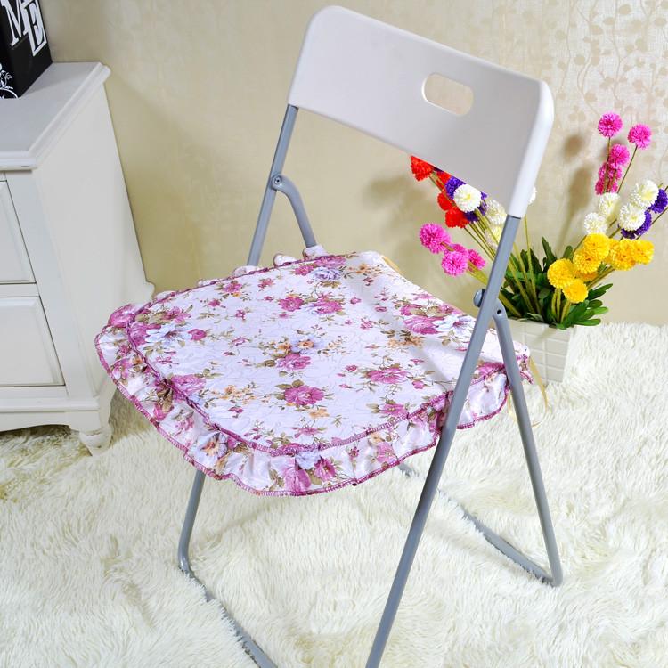 玘颜咖啡红色紫色布植物花卉田园坐垫