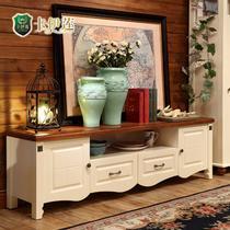 楸木色+磨砂珍珠白哑光喷漆框架结构储藏成人美式乡村 LSN003电视柜