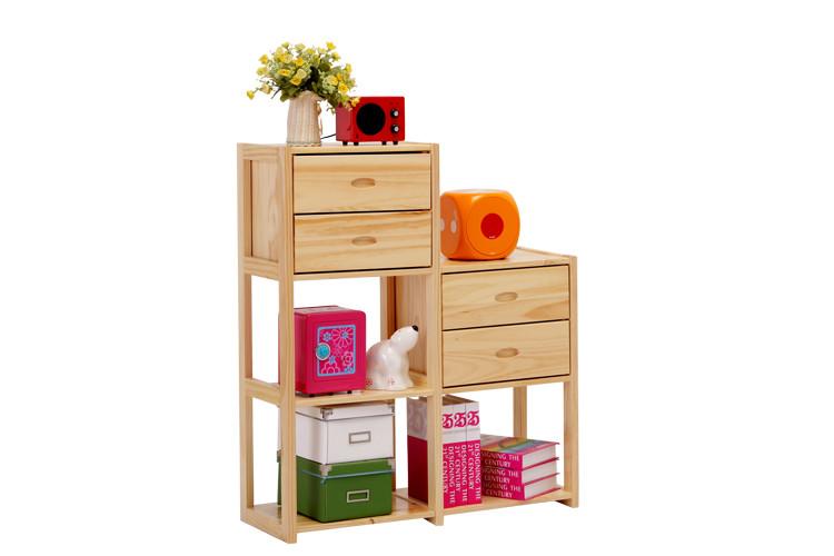 喜夢寶 框架結構松木多功能各國風情成人簡約現代 書柜