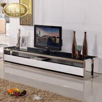 金属烤漆不锈钢玻璃箱框结构储藏品牌LOGO成人简约现代 电视柜