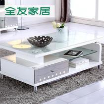 新品人造板密度板/纤维板玻璃简约现代 茶几
