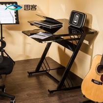 金属钢台式12036电脑桌简约现代 电脑桌