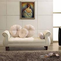 复合皮革皮革工艺木质工艺柳桉木化纤韩式 贵妃椅