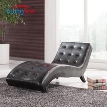 S形植绒面料工艺木质工艺弯曲松木移动复合面料海绵艺术简约现代 贵妃椅
