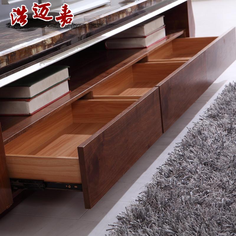 浩迈嘉人造板半哑光喷漆密度板纤维板木储藏成人欧式电视柜