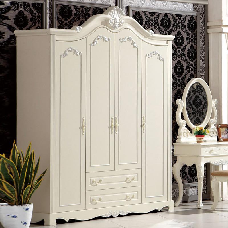 丽丽派款款哑光人造板松木储藏平拉门艺术成人欧式衣柜