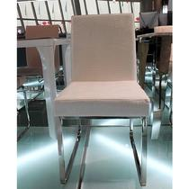 金属不锈钢皮革拆装成人简约现代 餐椅