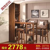 (购买前先咨询)油漆工艺木质工艺喷漆拼板框架结构储藏现代中式 吧台