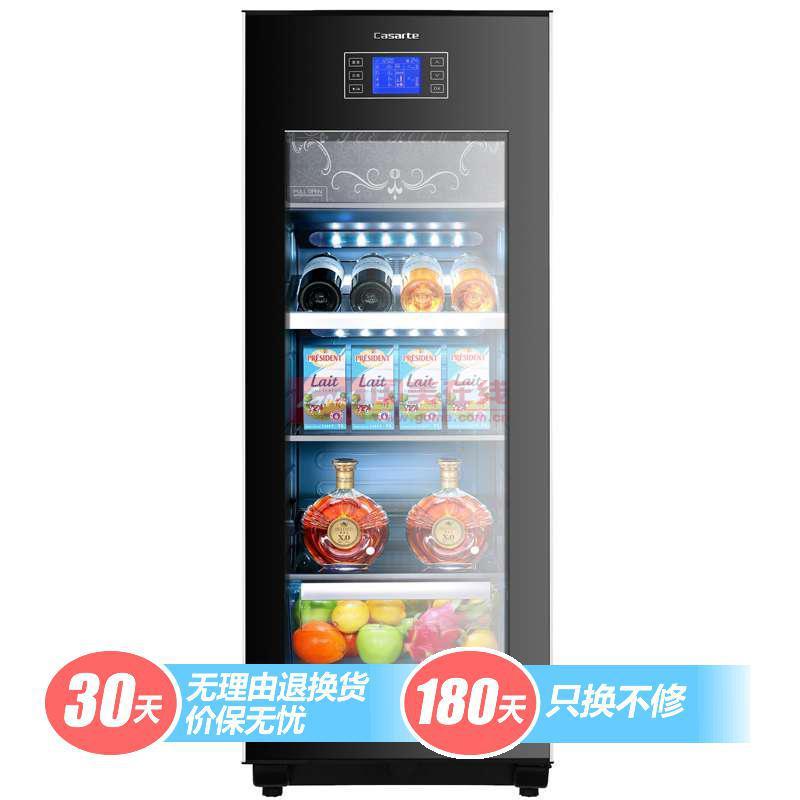 卡薩帝 黑色45dB電腦式定頻R600a直冷側開式LED數碼屏顯示 酒柜