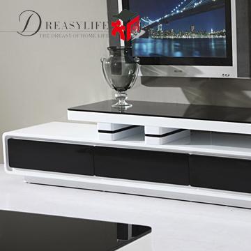 电视柜烤漆密度板纤维板箱框结构移动成人简约现代电视柜