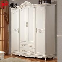 橡胶木储藏平拉门成人欧式 636衣柜