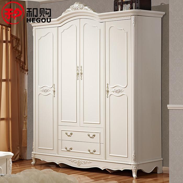 和購 橡膠木儲藏平拉門成人歐式 636衣柜