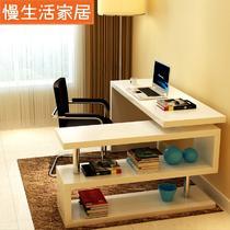 人造板IDL-YG302电脑桌书架密度板/纤维板台式电脑桌艺术简约现代 电脑桌