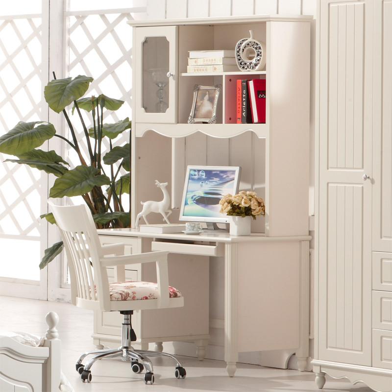 木桐居象牙白人造板密度板纤维板框架结构多功能成人田园书柜