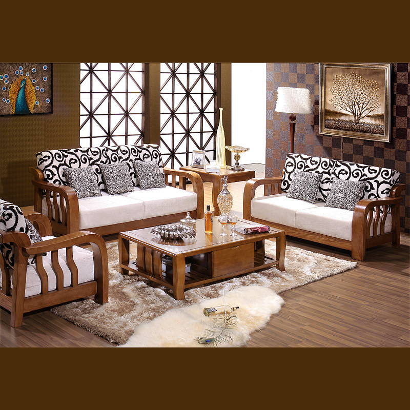 心居名家榫卯结构白蜡木拆装海绵艺术现代中式沙发