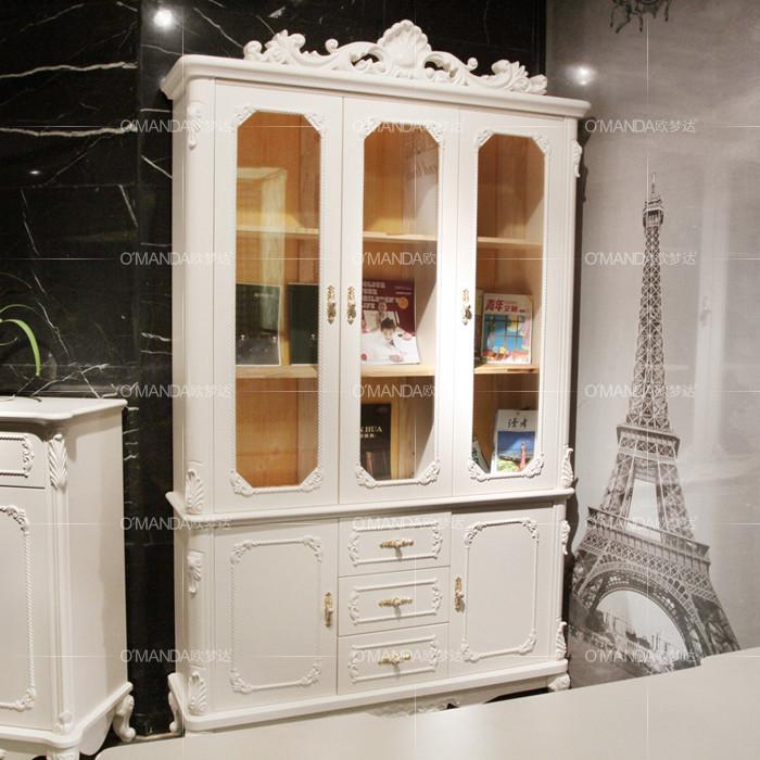 欧梦达 现货疯狂热卖哑光人造板箱框结构橡木拆装艺术成人欧式 书柜