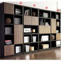 木纹刨花板/三聚氰胺板储藏成人简约现代 书柜
