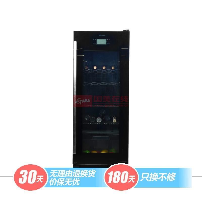 卡薩帝 黑色42dB機械式定頻R600a直冷式側開式 酒柜