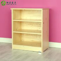 芬兰松原木色箱框结构松木储藏现代中式 地柜
