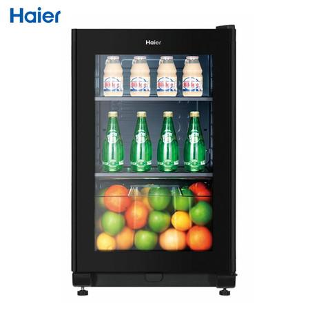 海尔 黑色冷藏42dbN单门R600a风冷左开式无立式酒柜机械控温 酒柜