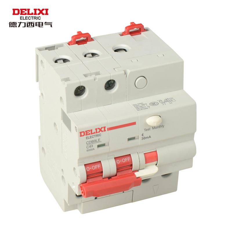 德力西電氣 2P63A真空斷路器 2P斷路器漏電保護器