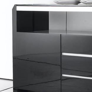 潘潘家具 木玻璃框架结构储藏简约现代 kg9000ct餐边柜