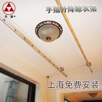 阳台升降式铝双杆式 FY-2808晾衣架