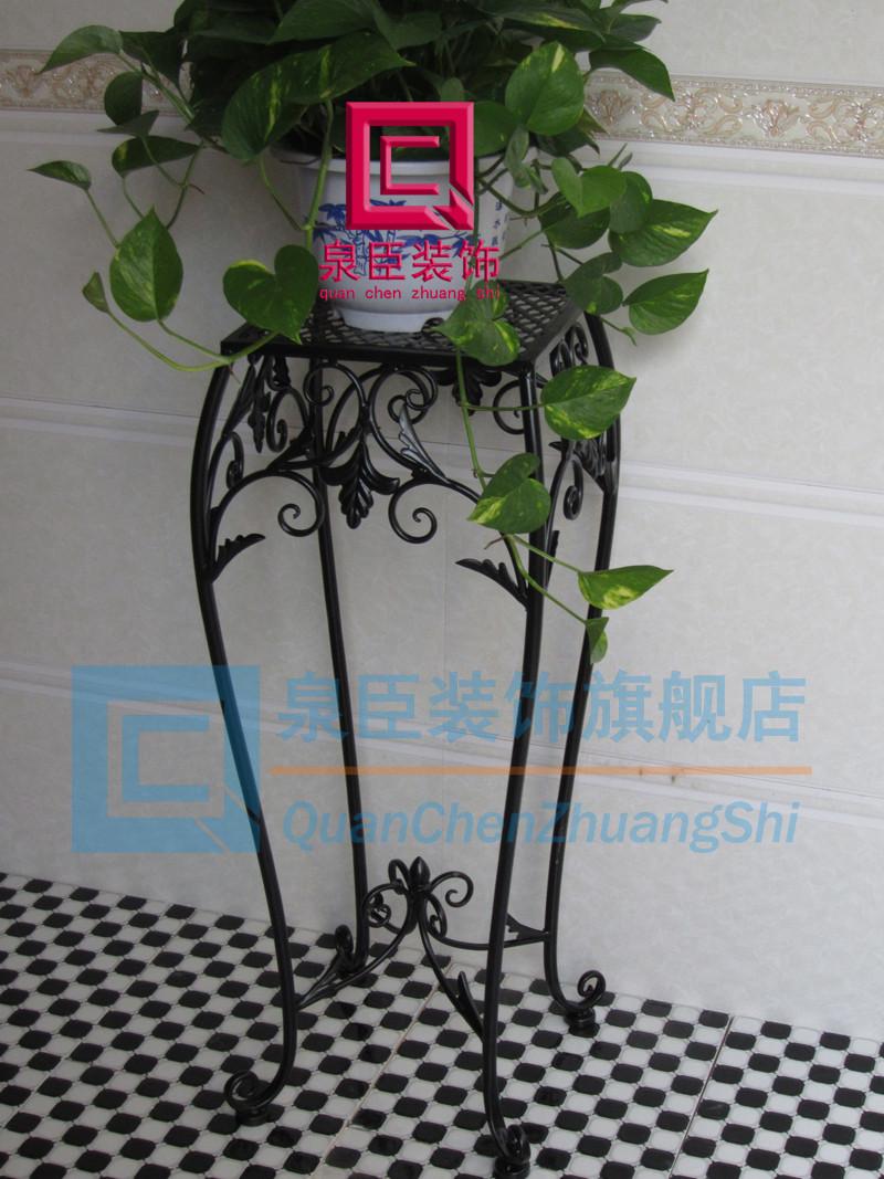 泉臣装饰 青铜色古铜色白色黑色欧式 qc0545花架