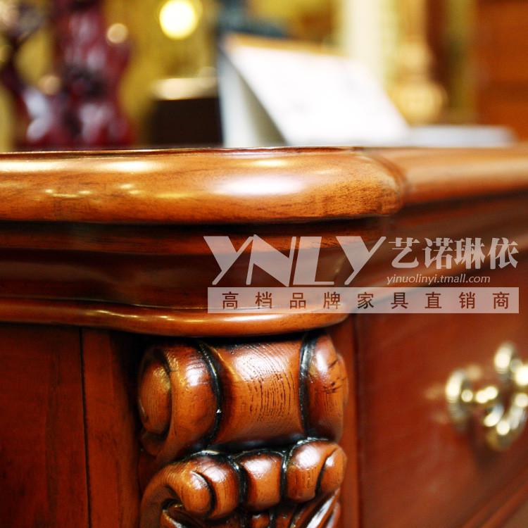 艺诺琳依仿古白色美式原色组装桦木美式乡村书桌