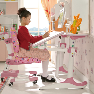 博士有成金属哑光不锈钢人造板支架结构升降儿童简约现代学习桌