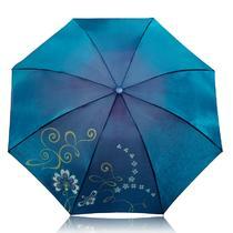 手动锦纶晴雨伞三折伞成人 307e闪银丝印遮阳伞